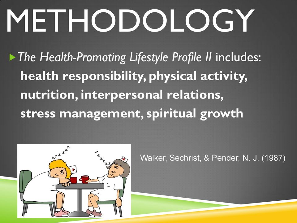 nutrition, interpersonal relations, stress management,