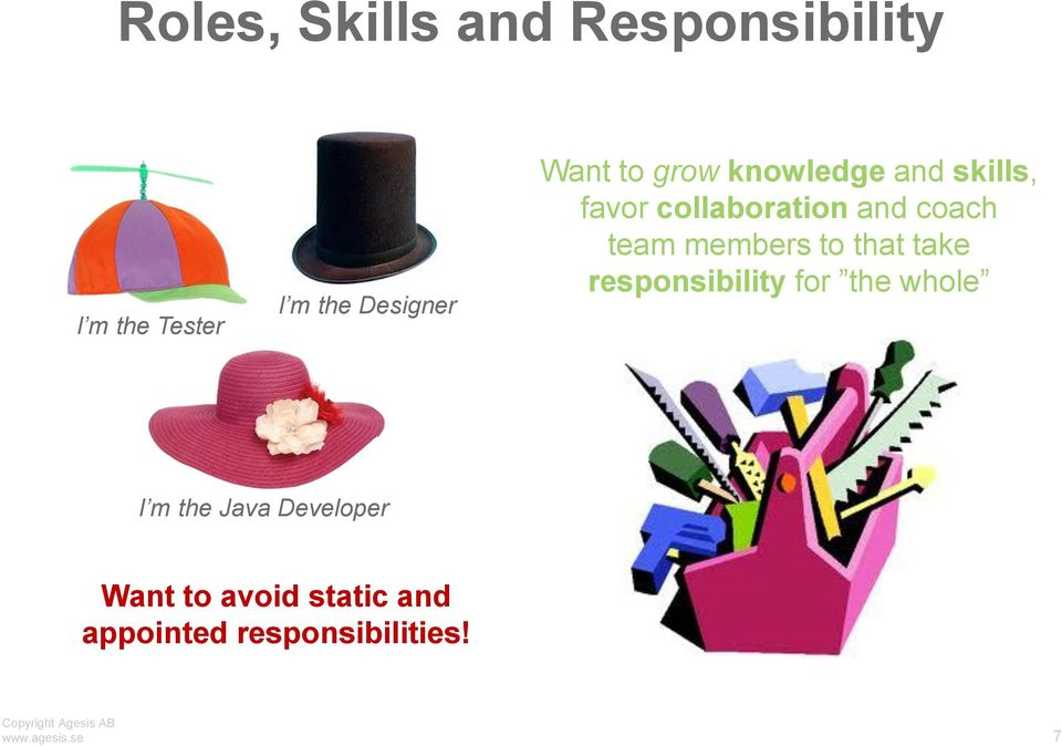team members to that take responsibility for the whole I m the Java