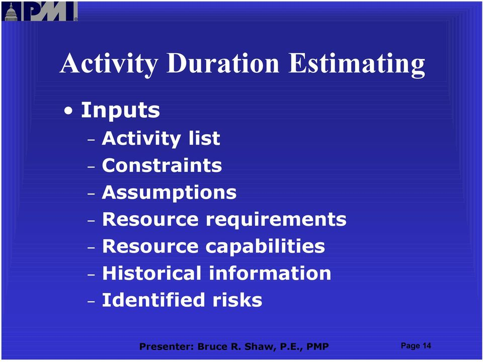 Resource capabilities Historical information