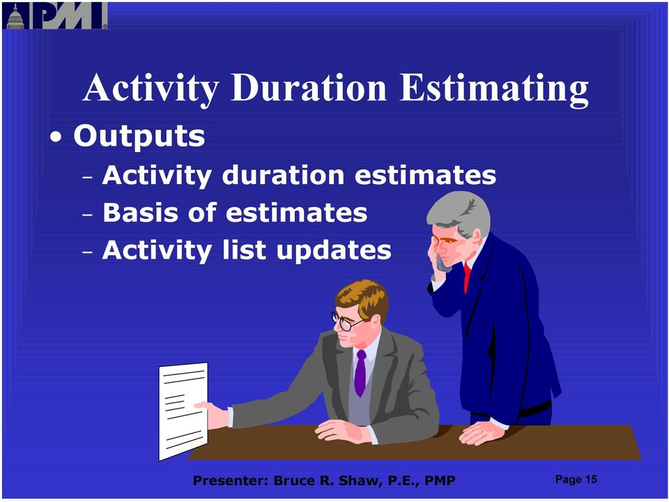 estimates Activity list updates