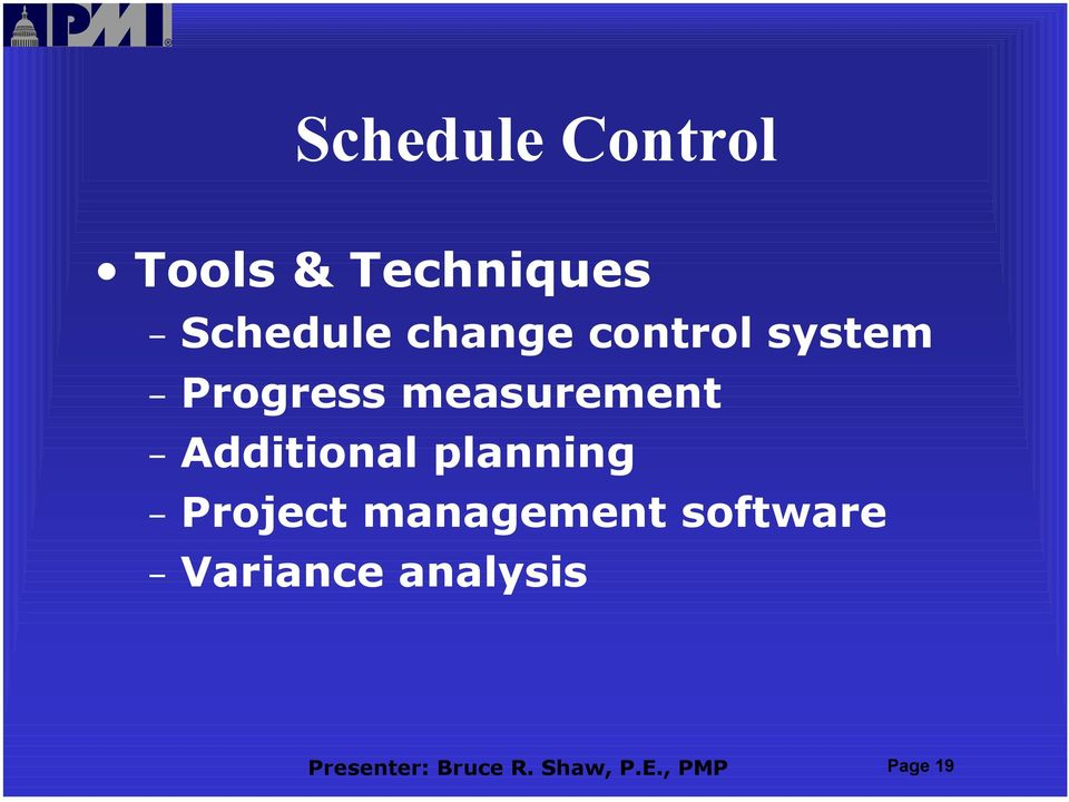 Additional planning Project management software