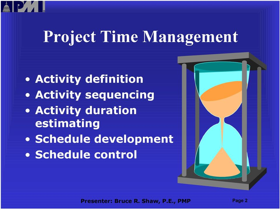 estimating Schedule development Schedule