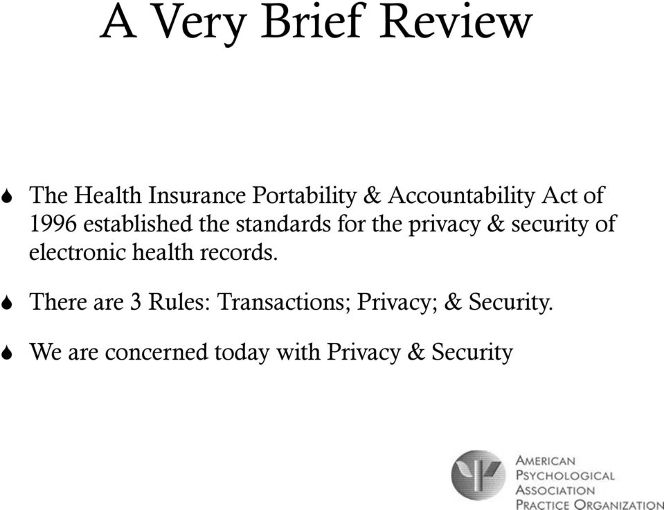 privacy & security of electronic health records.
