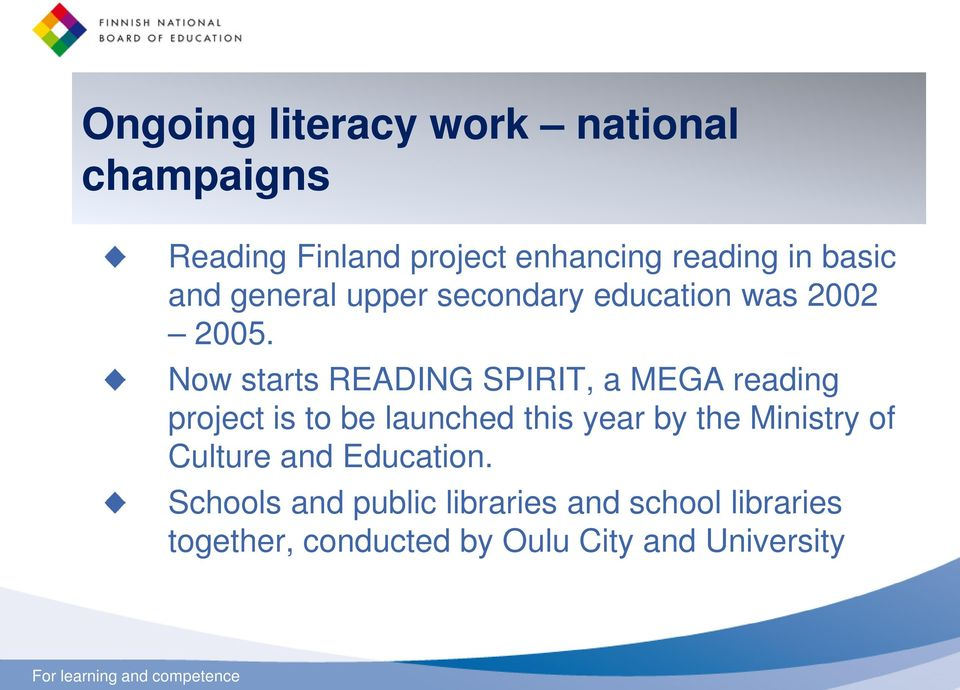 Now starts READING SPIRIT, a MEGA reading project is to be launched this year by the