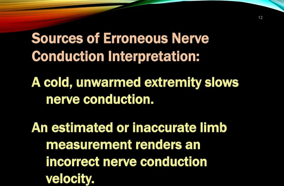 nerve conduction.