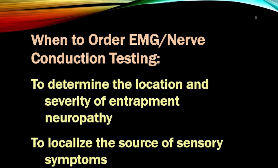 and severity of entrapment neuropathy