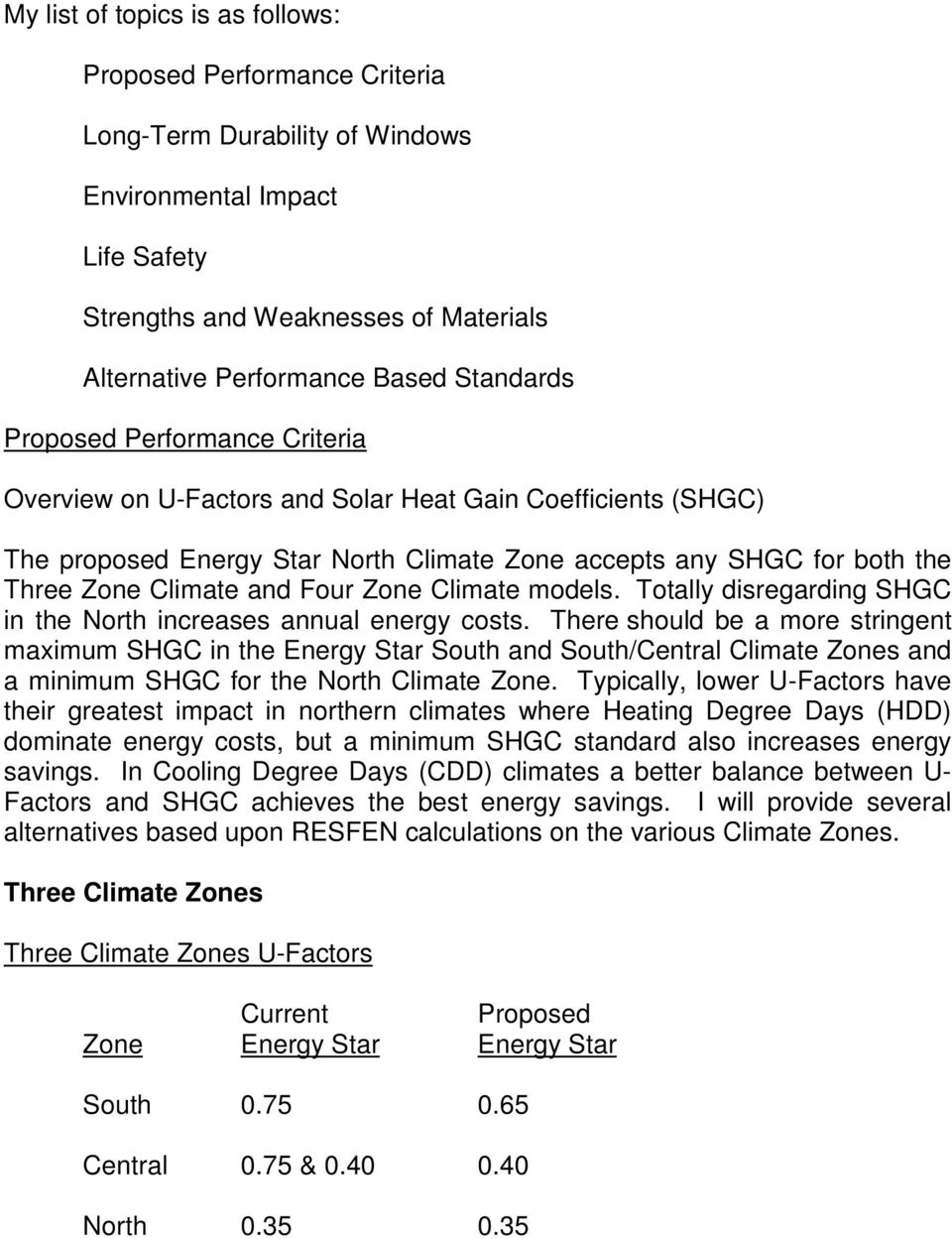 Four Zone Climate models. Totally disregarding SHGC in the North increases annual energy costs.