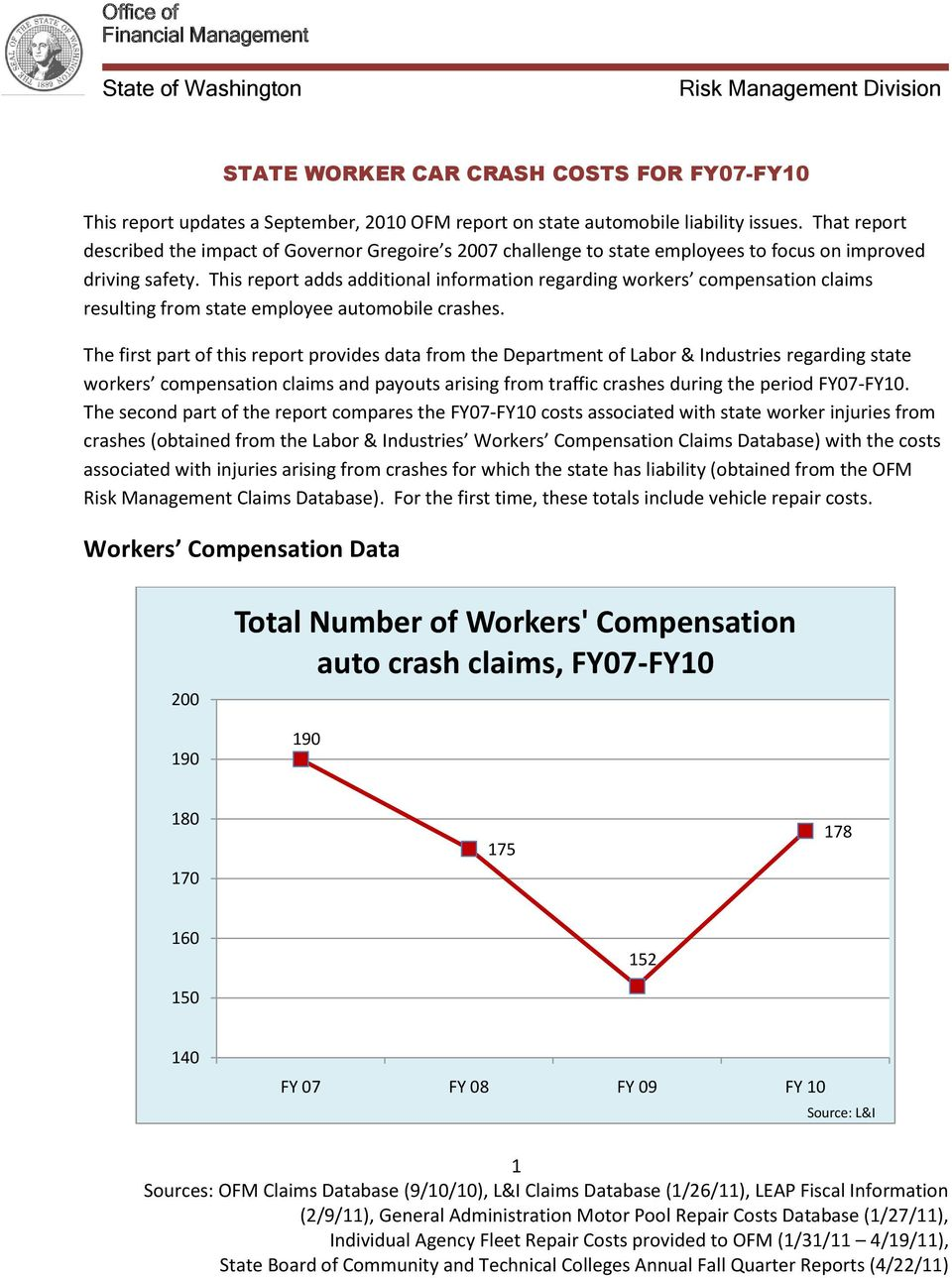 This report adds additional information regarding workers compensation claims resulting from state employee automobile crashes.