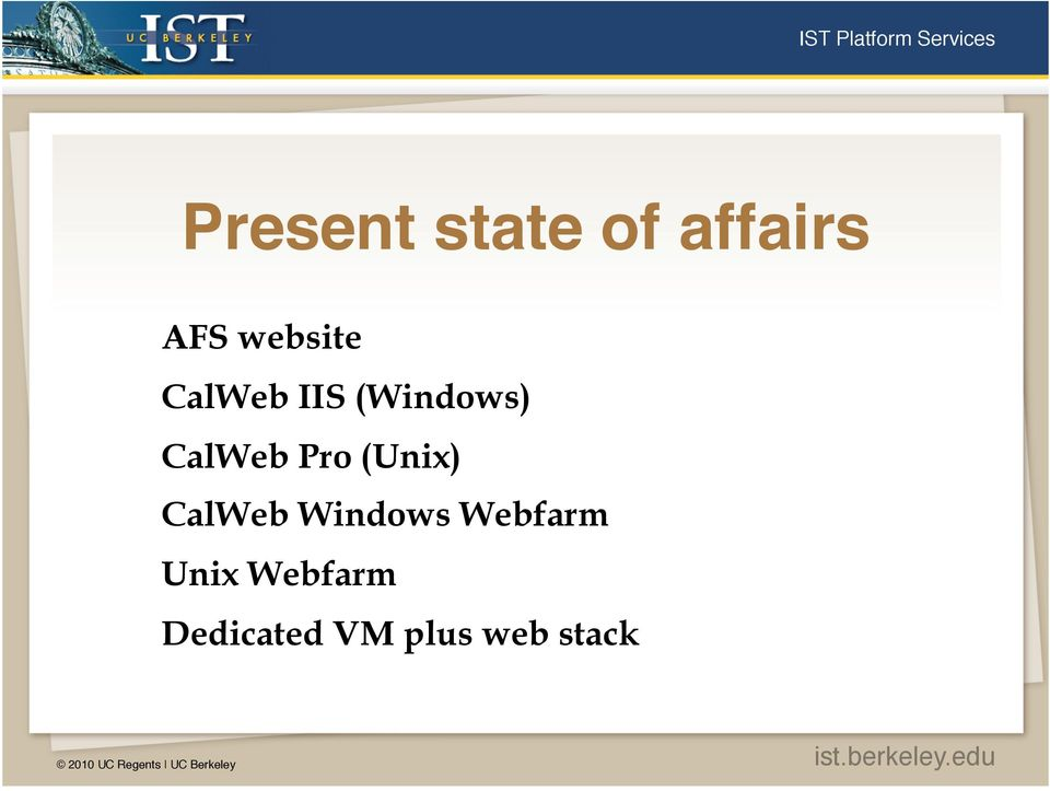 CalWeb Pro (Unix) CalWeb Windows