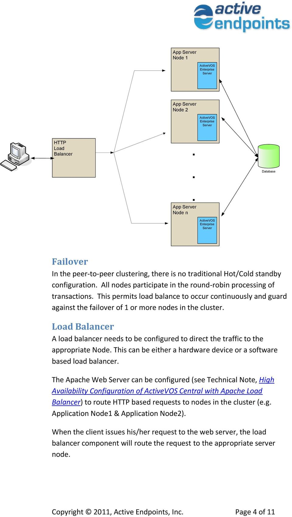 Load Balancer A load balancer needs to be configured to direct the traffic to the appropriate Node. This can be either a hardware device or a software based load balancer.