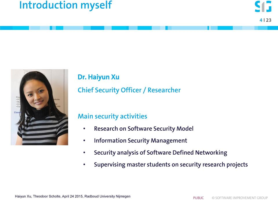activities Research on Software Security Model Information Security