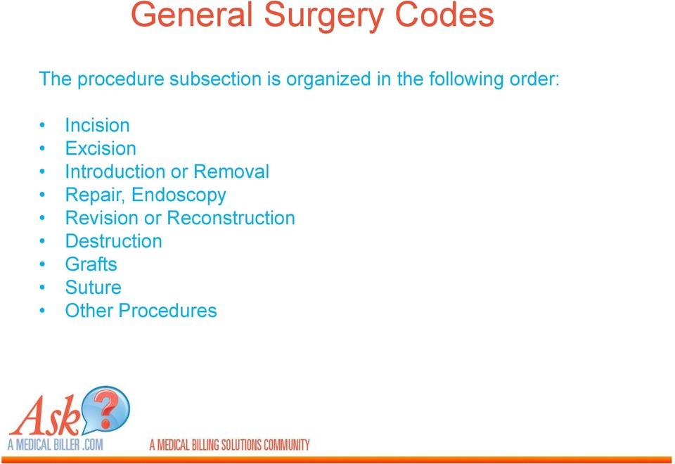 Introduction or Removal Repair, Endoscopy Revision or