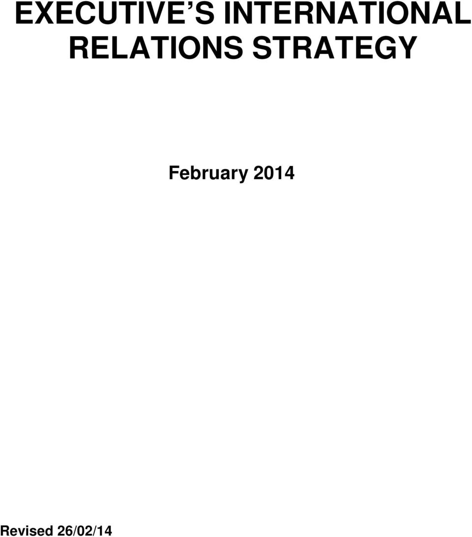 RELATIONS STRATEGY