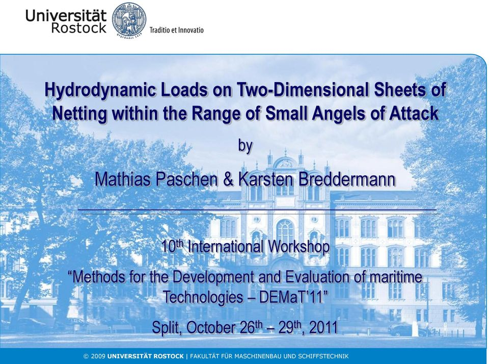 Breddermann 10 th International Workshop Methods for the Development