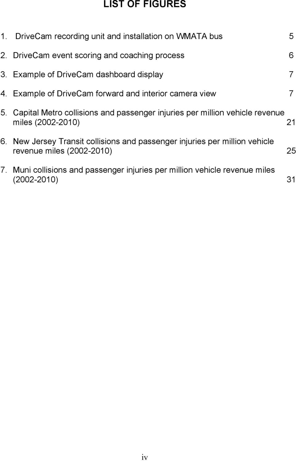 Capital Metro collisions and passenger injuries per million vehicle revenue miles (2002-2010) 21 6.