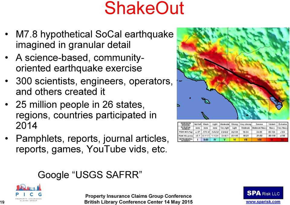 earthquake exercise 300 scientists, engineers, operators, and others created it 25 million people