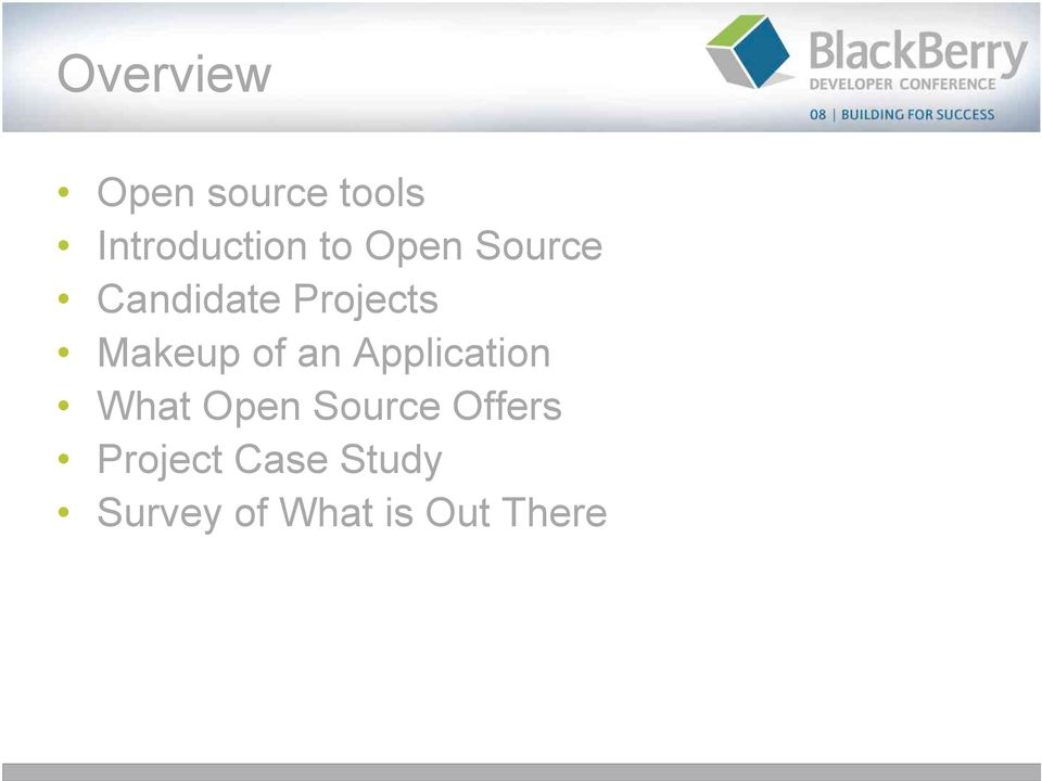 an Application What Open Source Offers