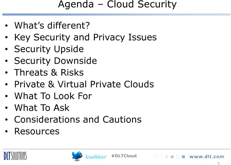Security Downside Threats & Risks Private & Virtual