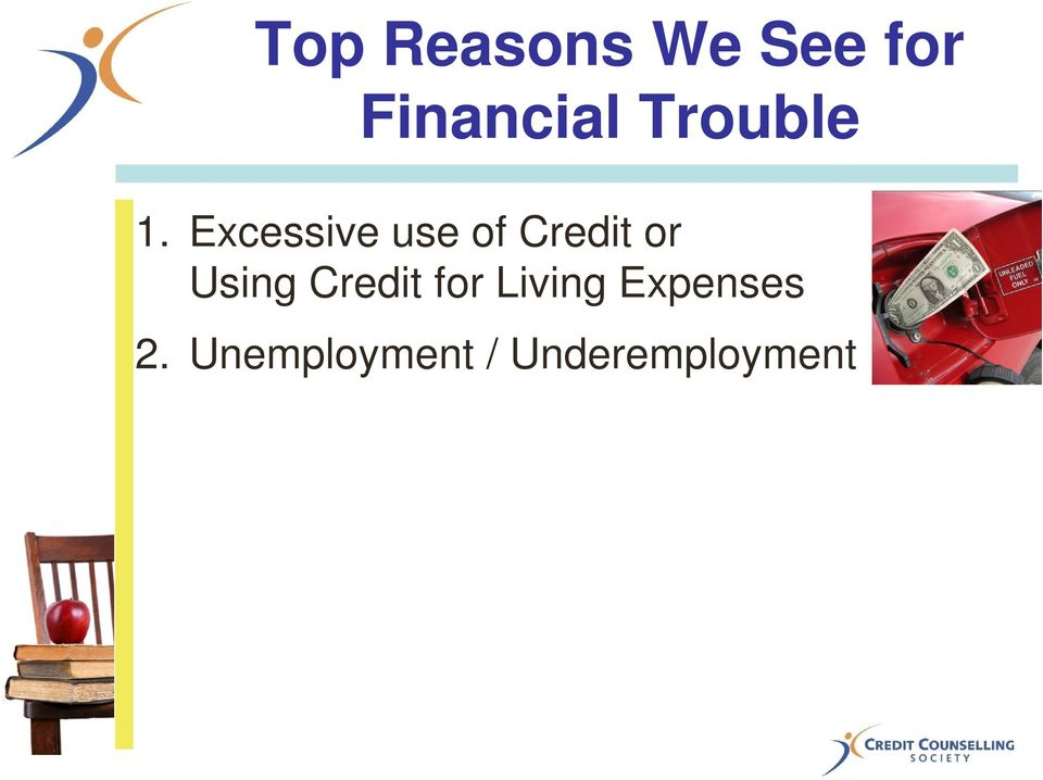 Excessive use of Credit or Using