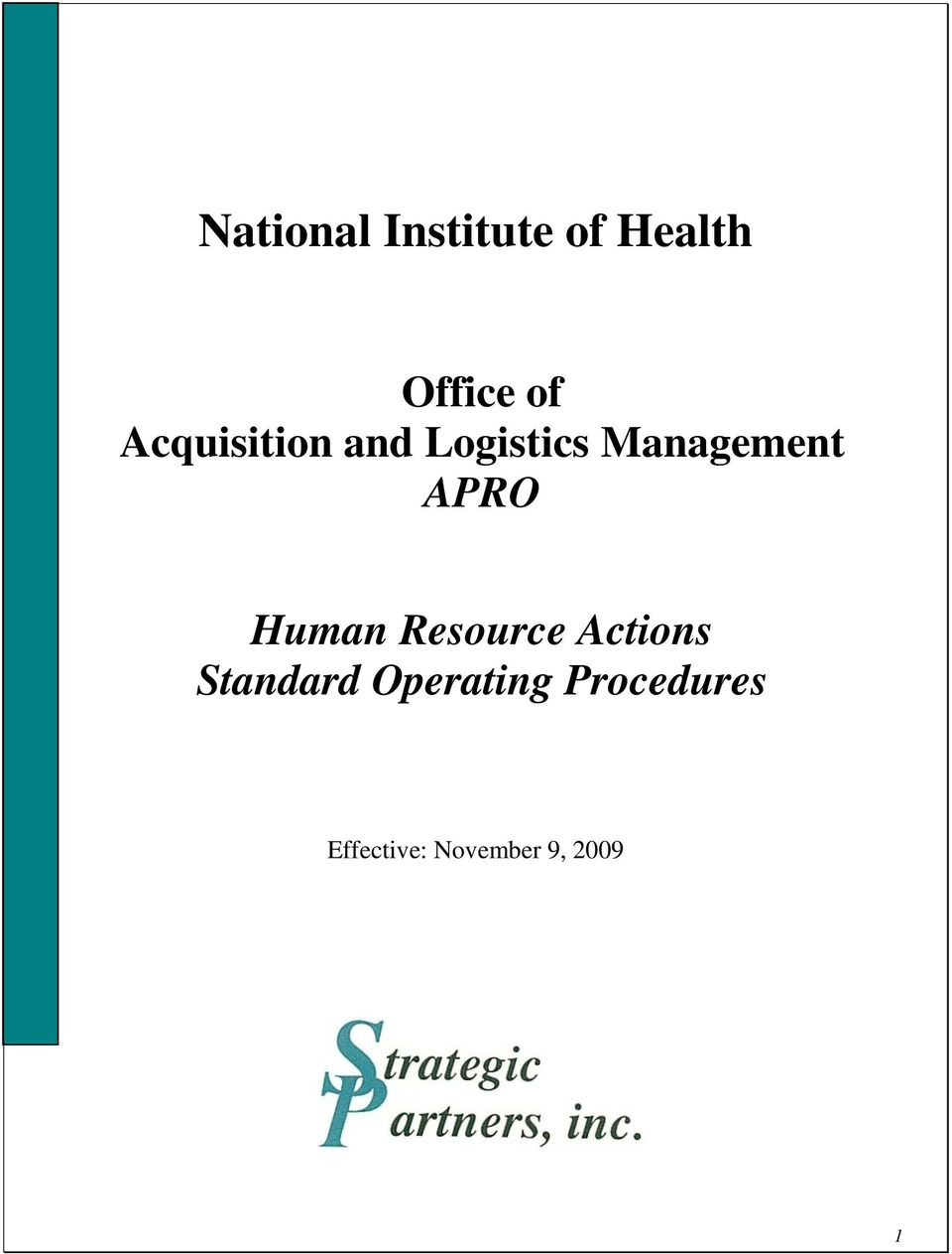 APRO Human Resource Actions Standard