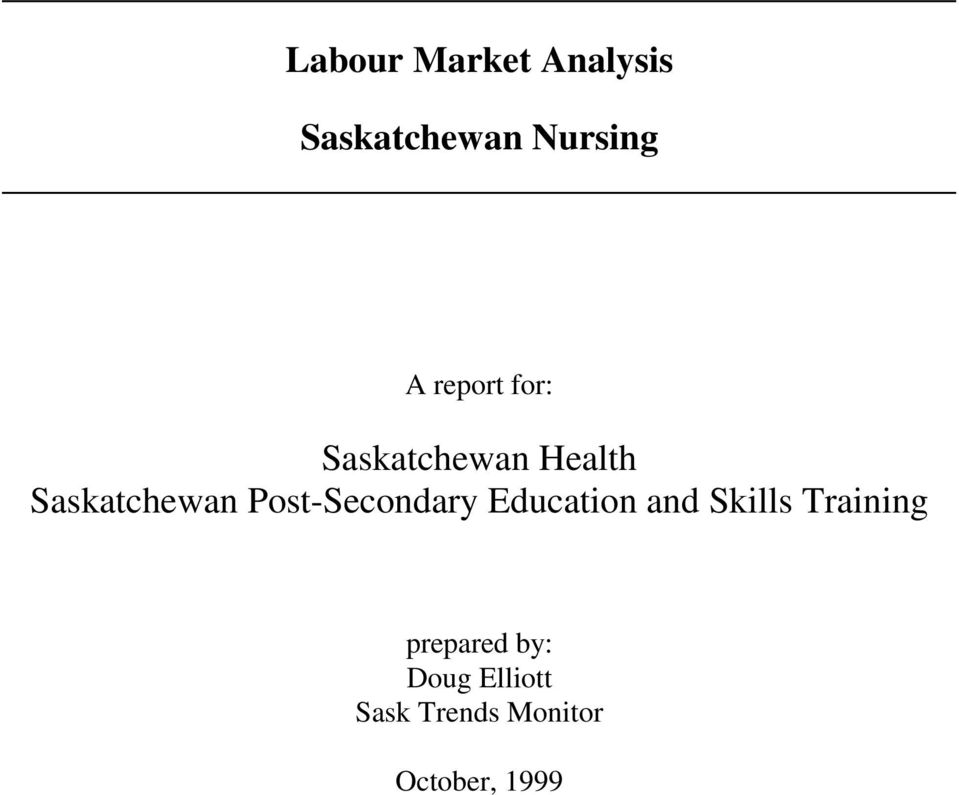 Post-Secondary Education and Skills Training