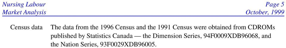 CDROMs published by Statistics Canada the Dimension