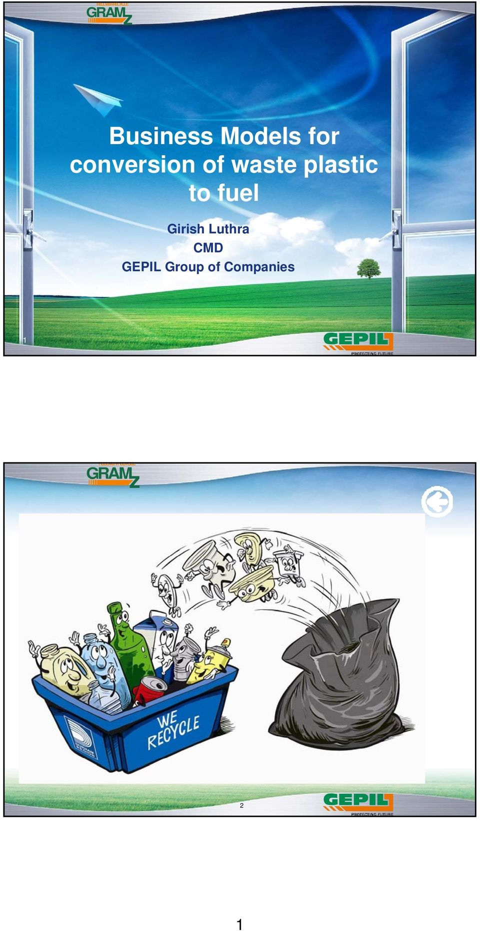 Business Models for conversion of waste plastic to fuel - PDF