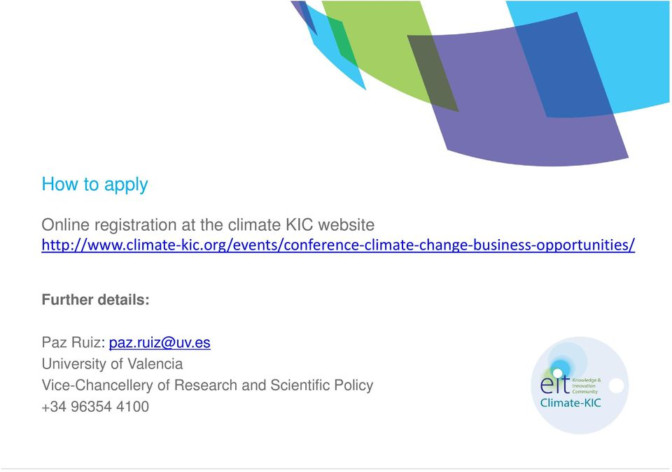 org/events/conference climate change business opportunities/ Further