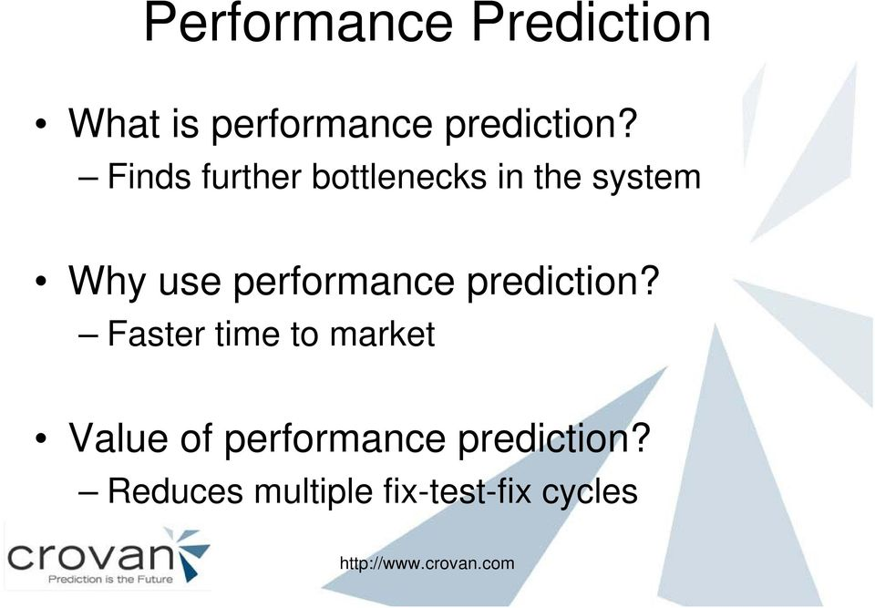 performance prediction?