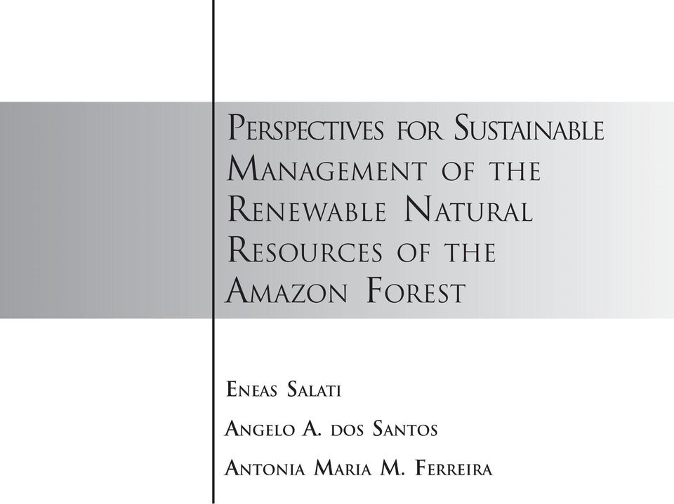 RESOURCES OF THE AMAZON FOREST ENEAS