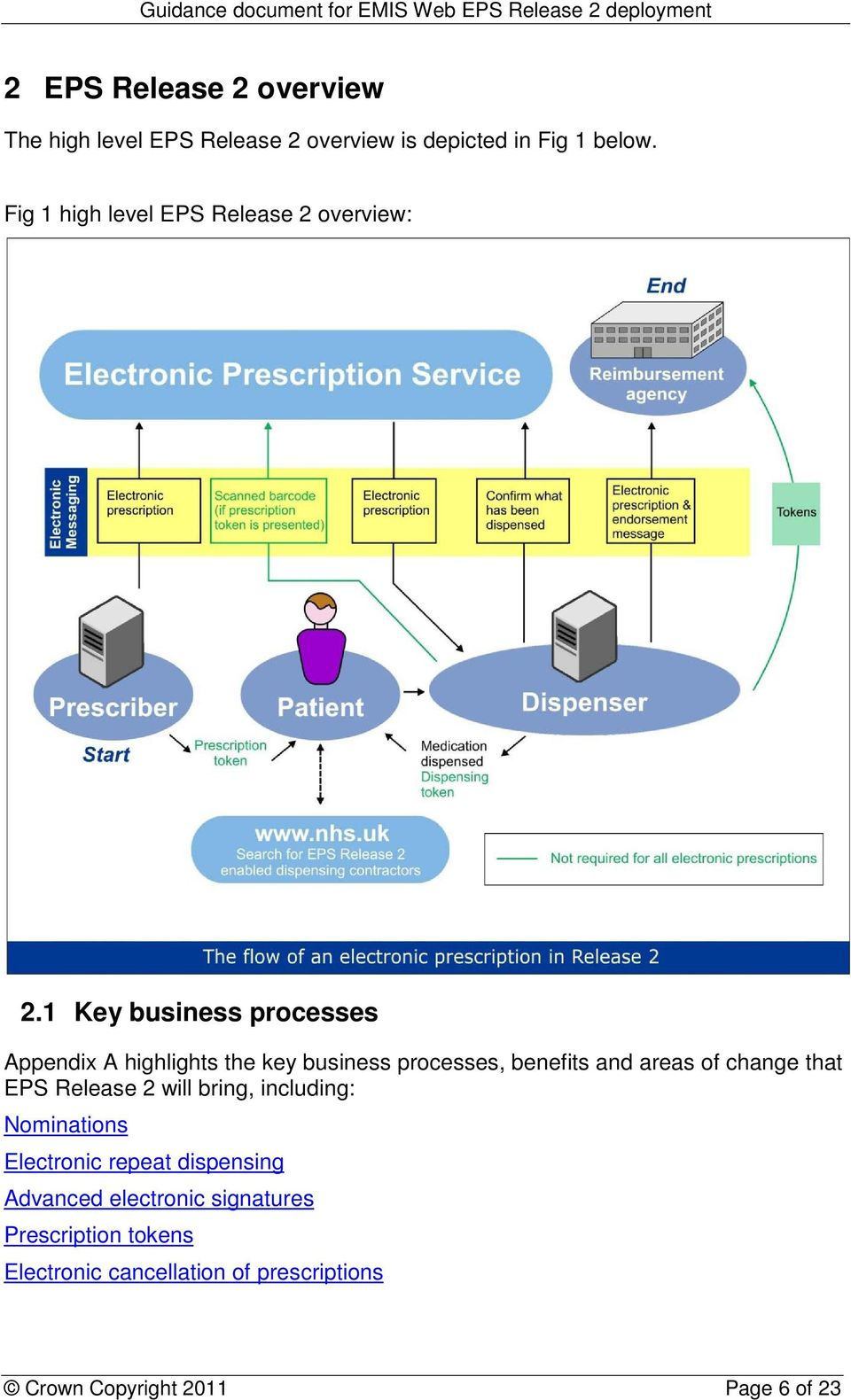 1 Key business processes Appendix A highlights the key business processes, benefits and areas of change that