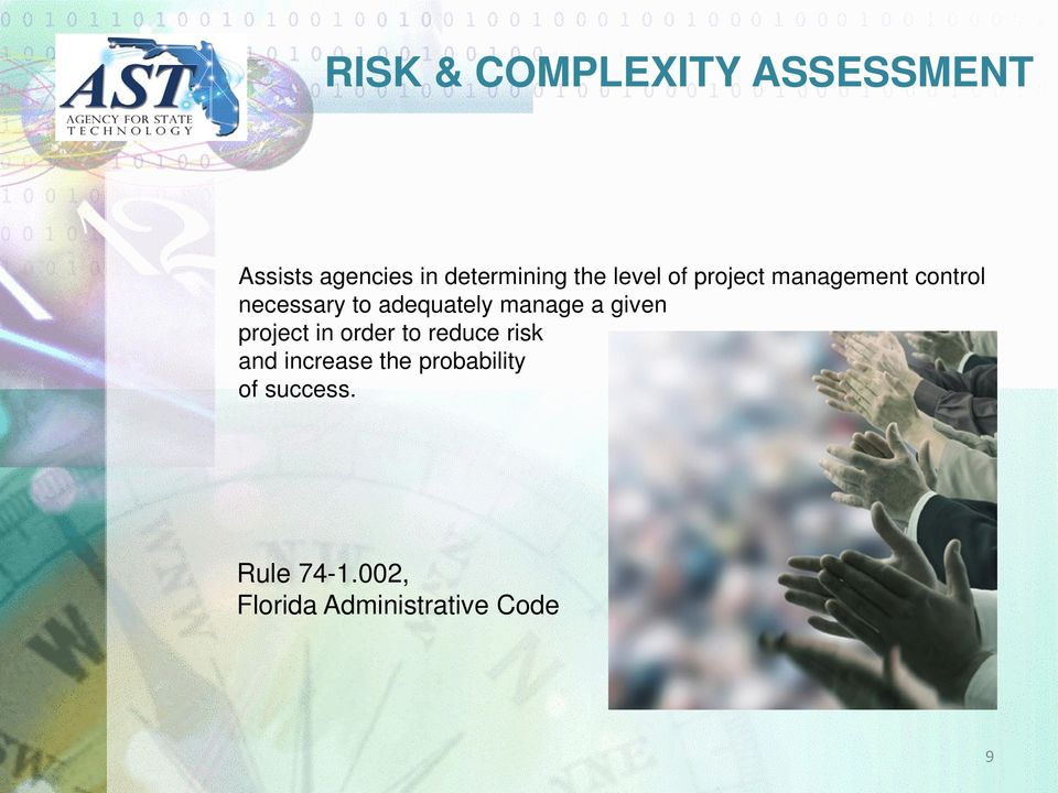 manage a given project in order to reduce risk and increase the