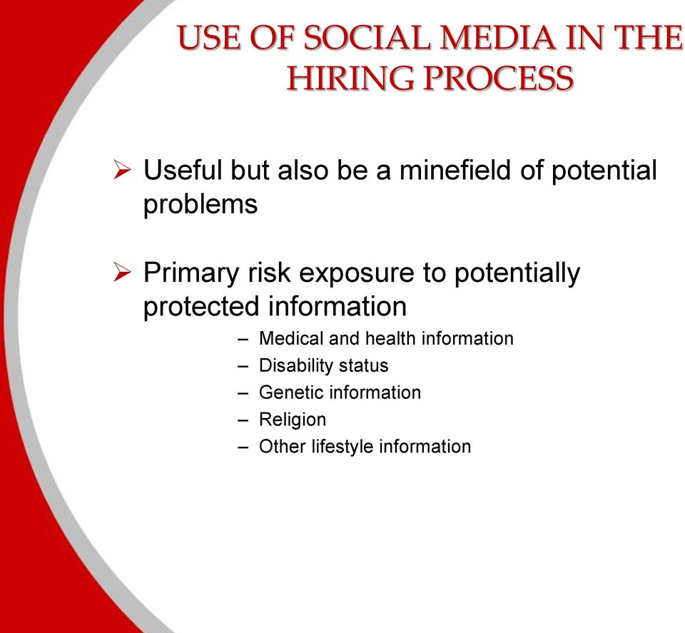 potentially protected information Medical and health information