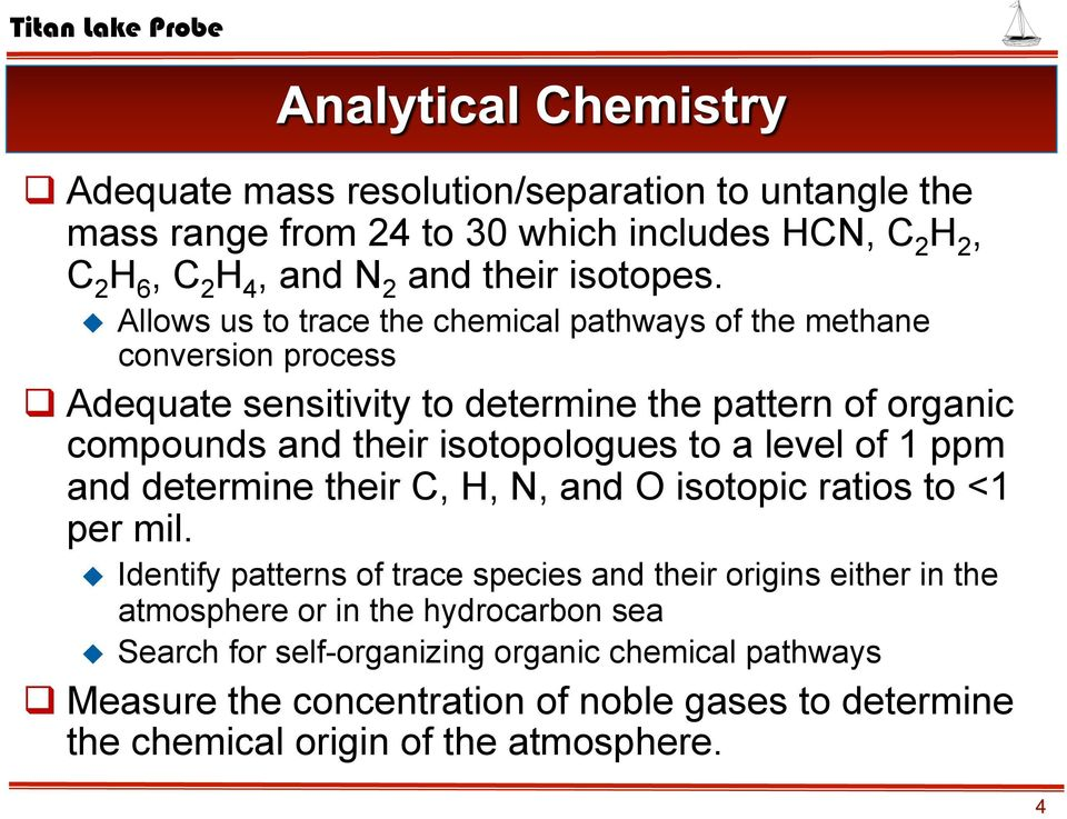 isotopologues to a level of 1 ppm and determine their C, H, N, and O isotopic ratios to <1 per mil.