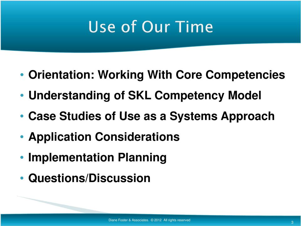 Application Considerations Implementation Planning