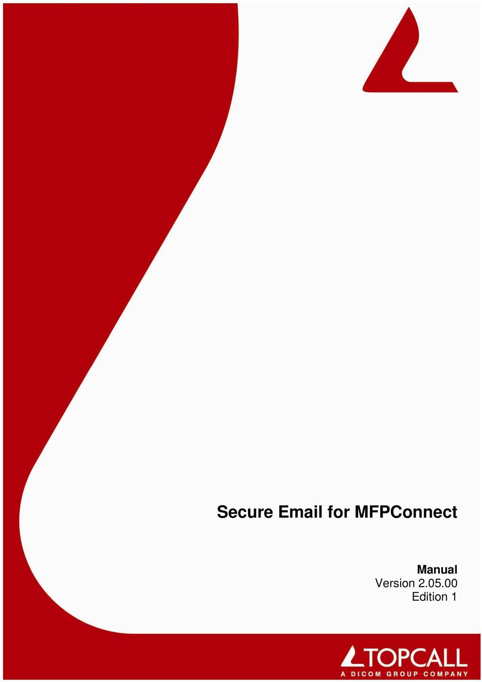 Secure for MFPConnect  Manual Version Edition 1 - PDF