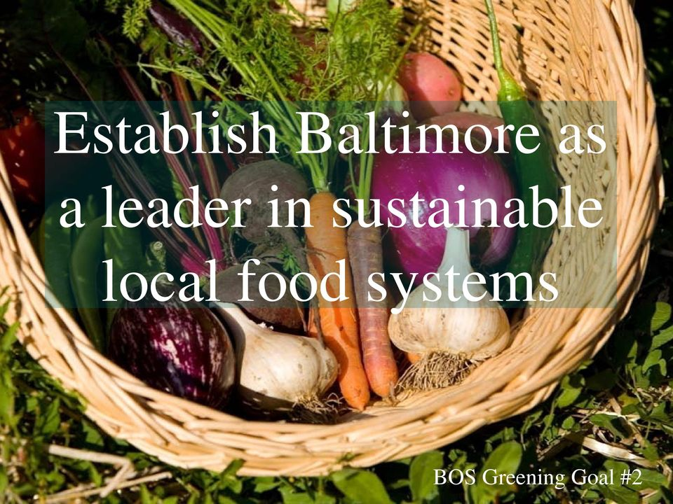 sustainable local