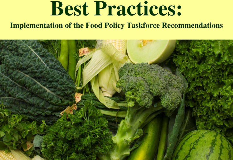 the Food Policy