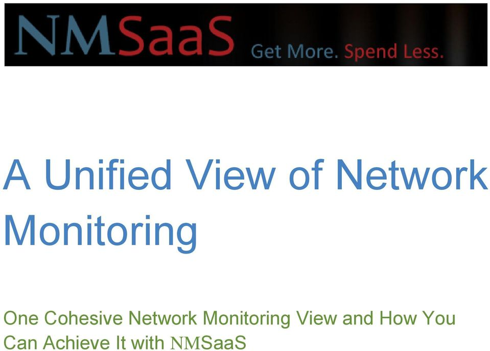 Network Monitoring View and