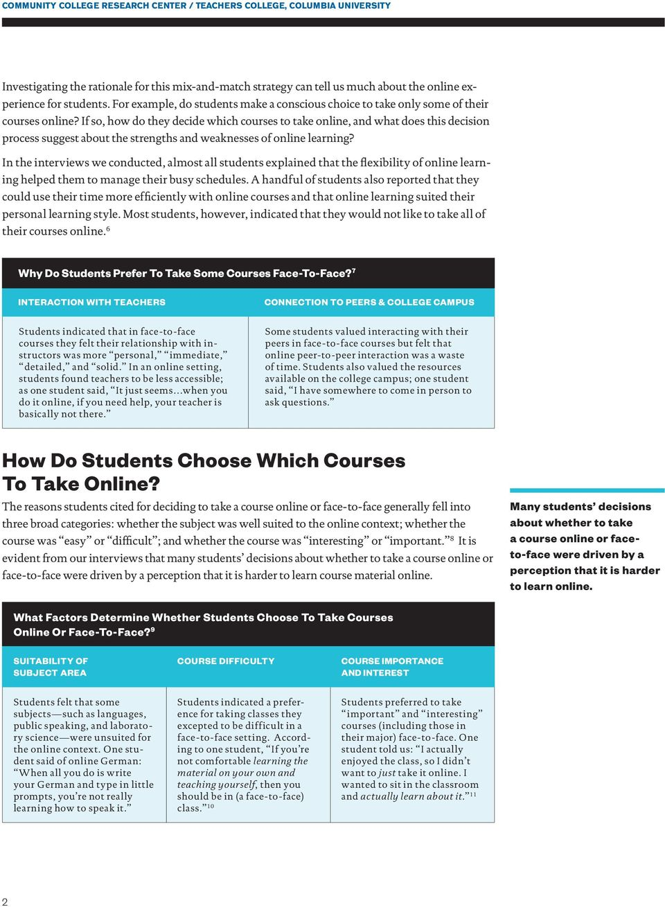If so, how do they decide which courses to take online, and what does this decision process suggest about the strengths and weaknesses of online learning?