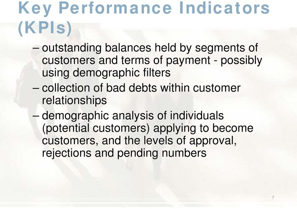 within customer relationships demographic analysis of individuals (potential