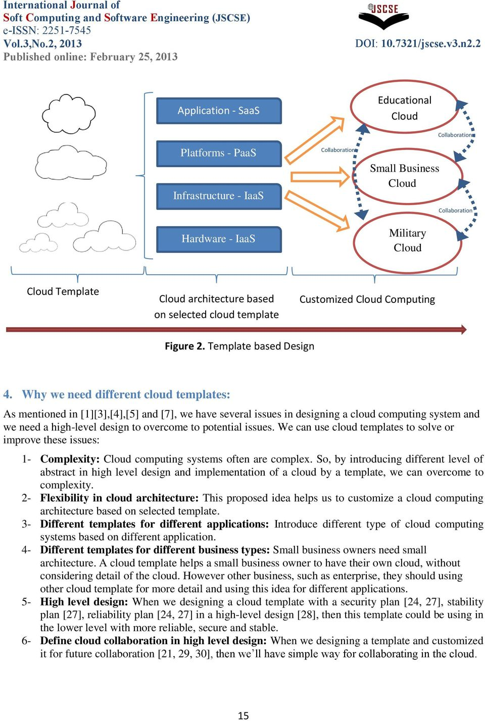 Why we need different cloud templates: As mentioned in [1][3],[4],[5] and [7], we have several issues in designing a cloud computing system and we need a high-level design to overcome to potential