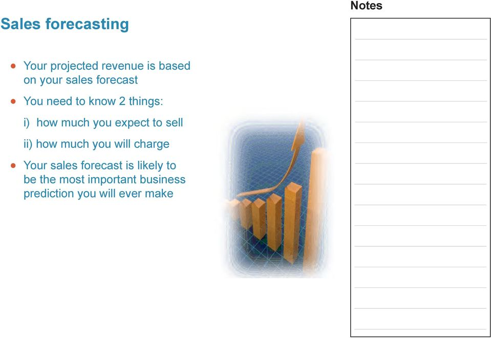 expect to se ii) how much you wi charge Your saes forecast