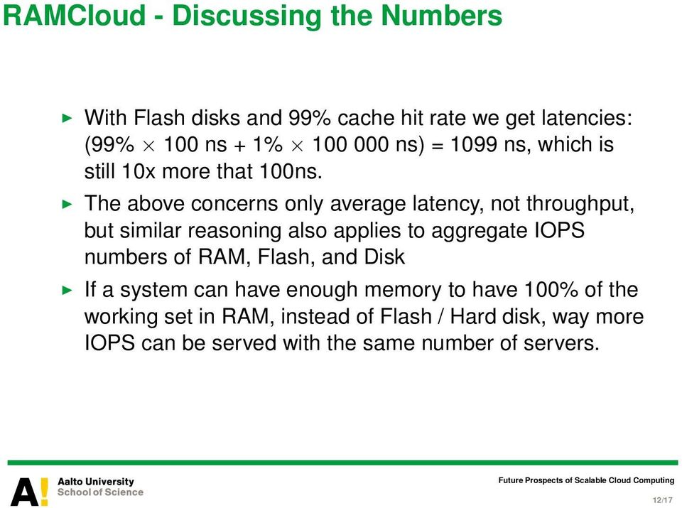 The above concerns only average latency, not throughput, but similar reasoning also applies to aggregate IOPS numbers of