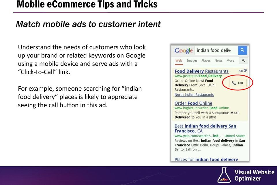 mobile device and serve ads with a Click-to-Call link.