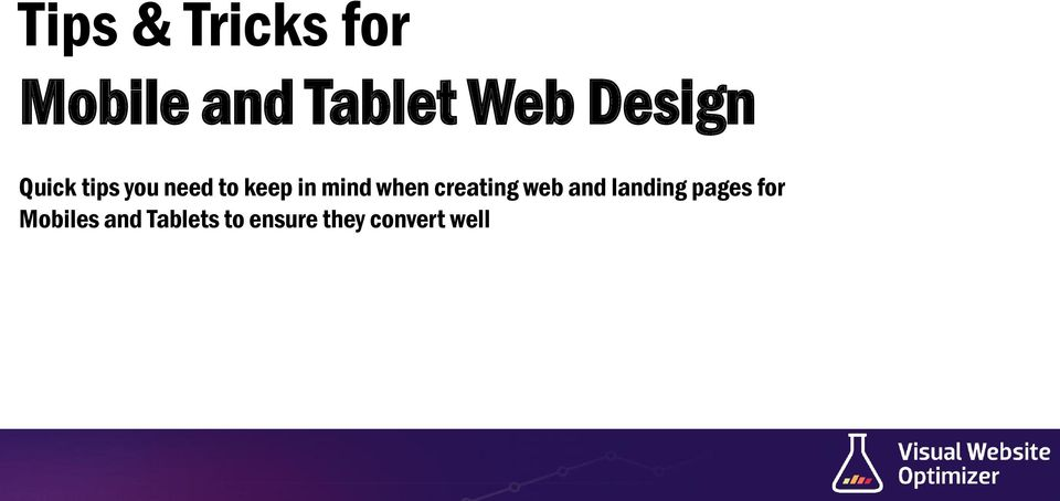 when creating web and landing pages for