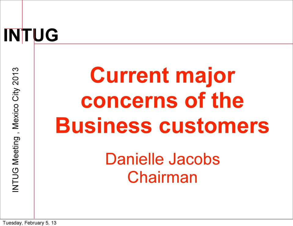 concerns of the Business