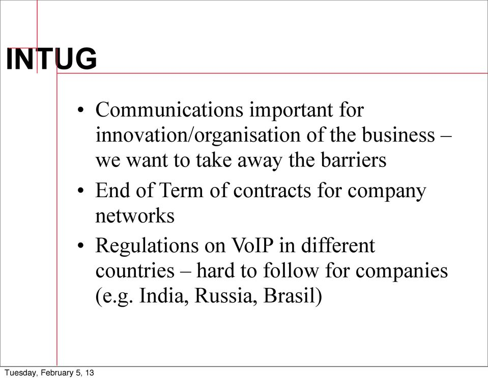 contracts for company networks Regulations on VoIP in different