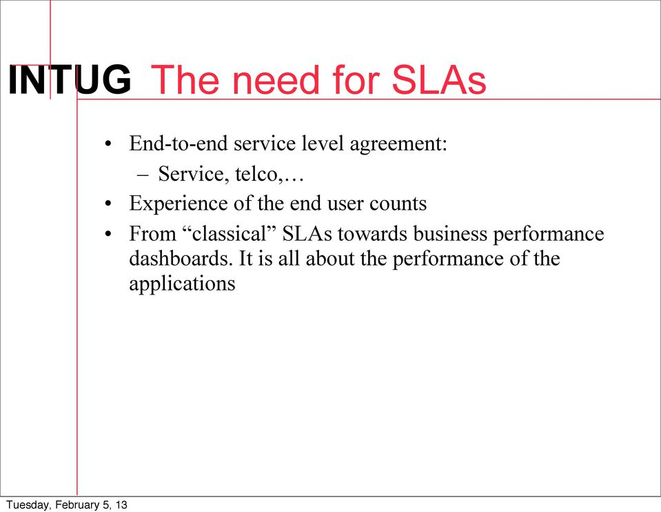 counts From classical SLAs towards business performance