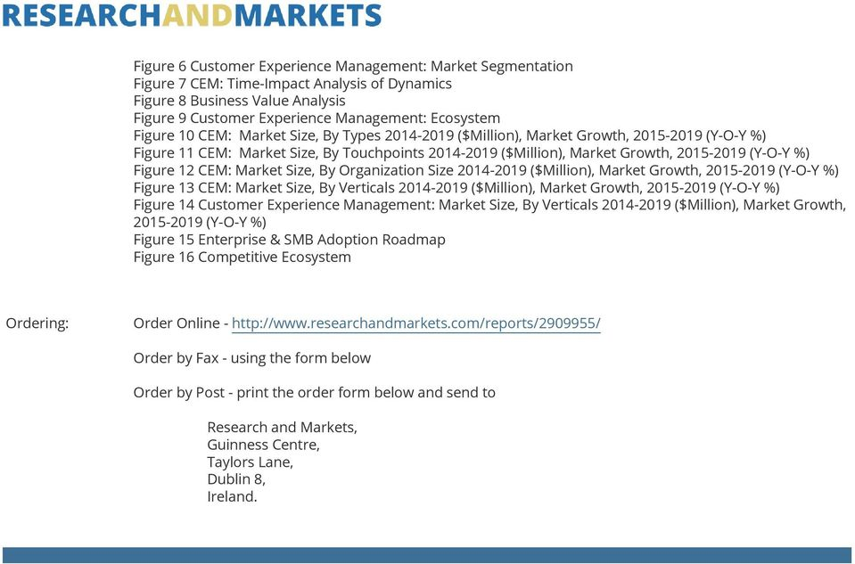 CEM: Market Size, By Organization Size 2014-2019 ($Million), Market Growth, 2015-2019 (Y-O-Y %) Figure 13 CEM: Market Size, By Verticals 2014-2019 ($Million), Market Growth, 2015-2019 (Y-O-Y %)